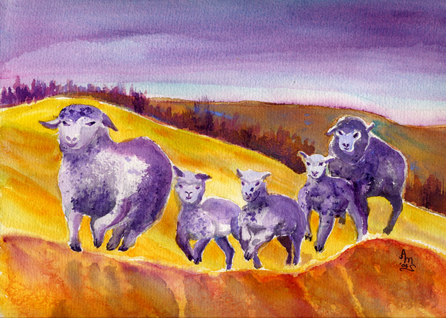 Five Sheep A-Leapin - #80