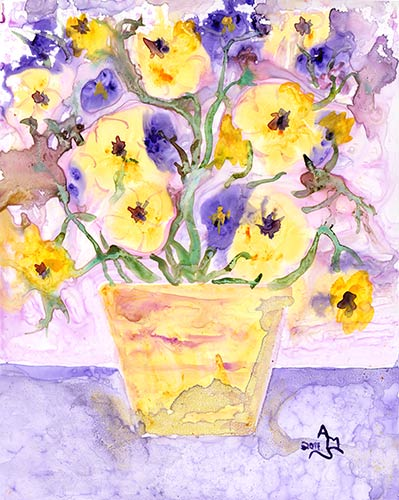 Yellow Pansies - #446