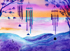 Wind Chimes at Sunset