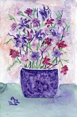 Purple Poppy Pot
