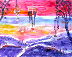 Wind Chimes at Sunset #2